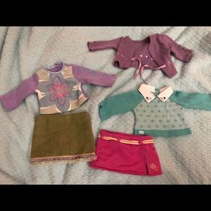American Girl Brand Clothes bundle tops and skirts